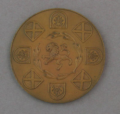 Commemorative medal presented to Maureen Caird, 1970 Commonwealth Games