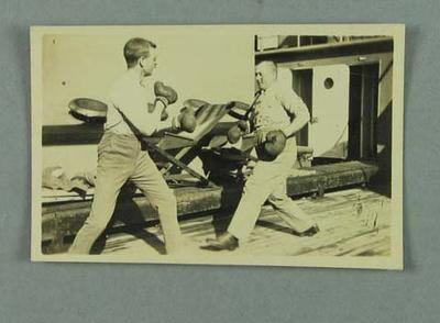 """Small photograph - """"Captain Laurence & Trotter, June 1916, Medie"""""""