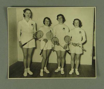 Photograph of Australian women's squash team, New Zealand 1953
