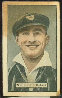 1936-37 Allen's Cricketers C L Badcock trade card