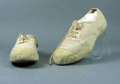Squash shoes, worn by Rae Maddern c1950s
