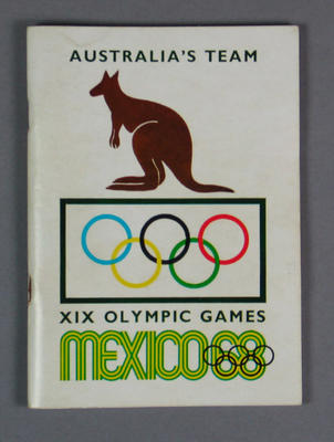 Booklet, Australia's Team - 1968 Mexico City Olympic Games