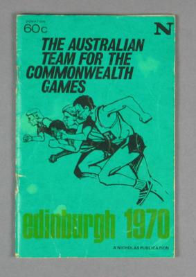 Booklet, Australia's Team - 1970 Edinburgh Commonwealth Games