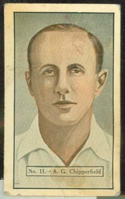 1936-37 Allen's Cricketers Arthur Chipperfield trade card