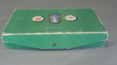 Colgate toiletry box issued to 1956 Olympians, used by David Schumacher