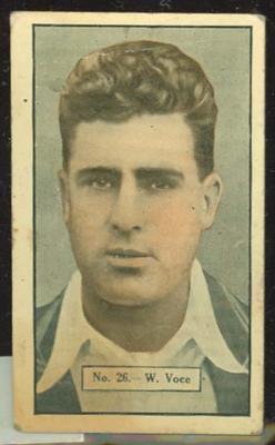 1936-37 Allen's Cricketers William Voce trade card