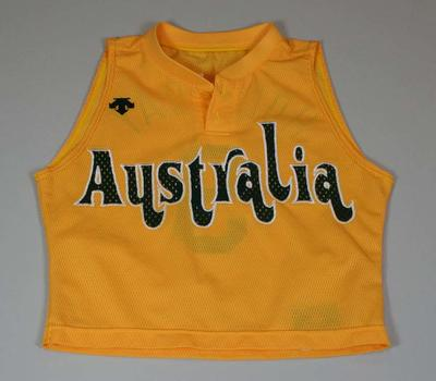 Singlet worn by Jenny Holliday, Atlanta Olympic Games, 1996