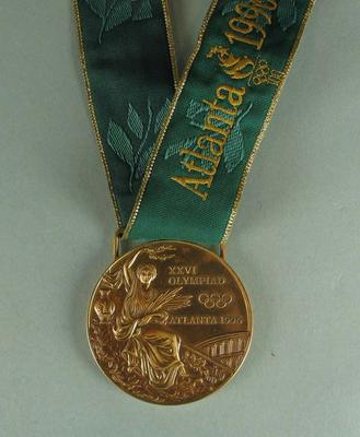 Bronze Medal awarded to Jenny Holliday, Atlanta Olympic Games, 1996