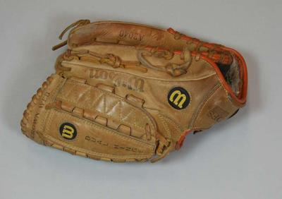 Softball glove used by Jenny Holliday, Atlanta Olympic Games, 1996