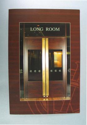 Long Room programme & menu, 29 September 2005