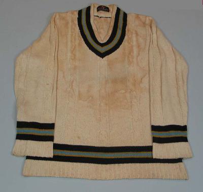 Indian Cricket Team Jumper worn by Sunil Gavaskar; Clothing or accessories; M16363