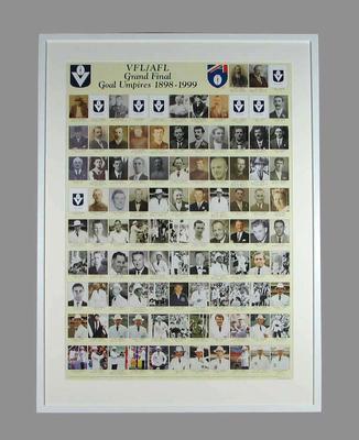 "Poster, ""VFL/AFL Grand Final Goal Umpires 1898-1999"""