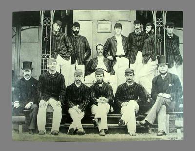 Reproduction photograph of the Australian Cricket Team - England 1882