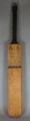 Cricket Bat -  Crockett Super Quality De Luxe - belonging to Betty Wilson