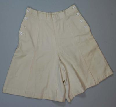 Cream culottes worn by Betty Wilson