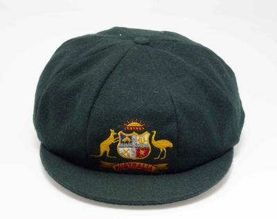 Baggy green cricket cap, worn by Betty Wilson