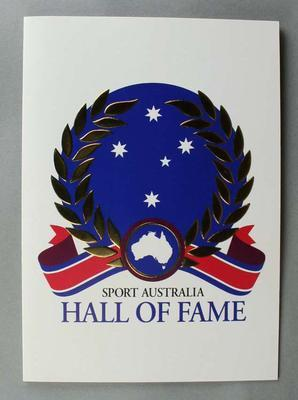 Sport Australia Hall of Fame 2004 Christmas card and envelope addressed to Betty Wilson.