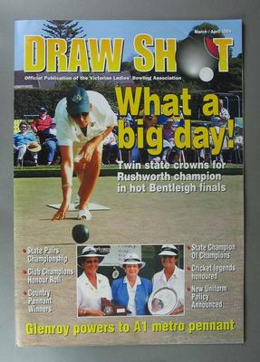 Draw Shot Magazine March/April 2004 with article by David Allen titled 'Legendary cricketers finally capped'
