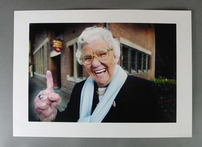 Colour photograph of Betty Wilson, image used in Sunday Herald Sun 10 July 2005