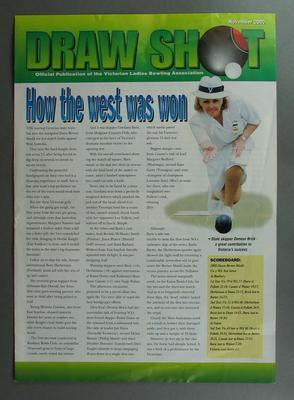 Draw Shot fold-out magazine, November 2000 featuring an article on Betty Wilson - 2nd copy.