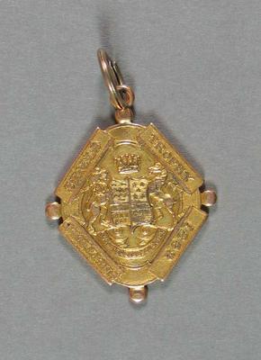 Medallion, Sheffield Shield 1921/22 - awarded to Albert Wallis Lampard