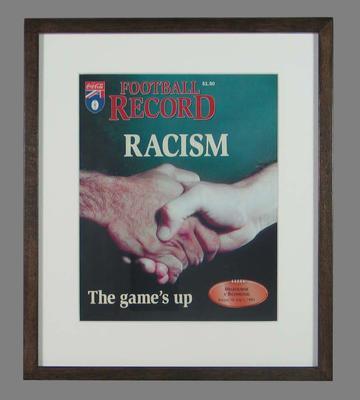 "Football Record, ""Racism - The game's up"" - 1 July 1995, round 13"