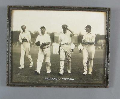 Photograph, Victoria v England cricket match at MCG - November 1920