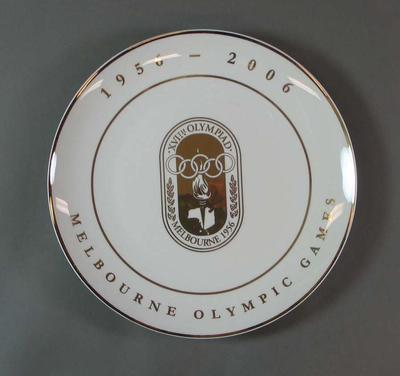 Commemorative plate, 50th Anniversary of the 1956 Olympic Games