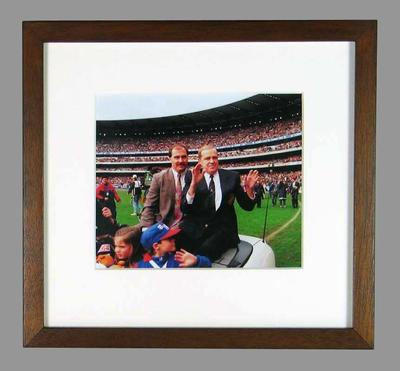Reproduction photograph, Ted Whitten Snr & Ted Whitten Jr, AFL State of Origin,1995