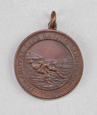 Royal Life Saving Society bronze medal, awarded to Les Harley 1927