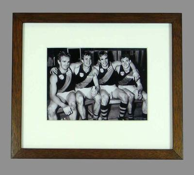 Reproduction photograph, depicts Daniher brothers playing for Essendon FC - 1990