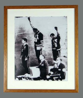 Photograph of Tommie Smith, John Carlos and Peter Norman - 1968 Olympic Games; Photography; 2007.116