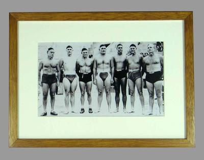 Reproduction photograph Australian Water Polo team, 1948 London Olympic Games