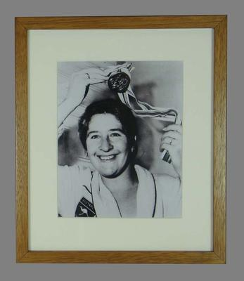 Reproduction photograph, depicts Dawn Fraser at 1964 Tokyo Olympic Games
