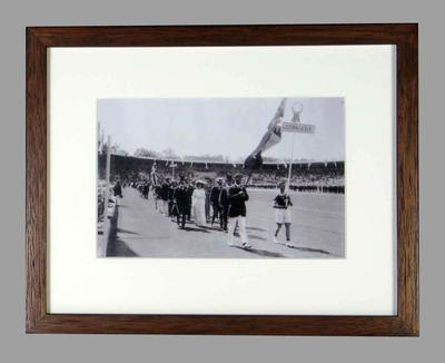 Reproduction photograph 1912 Stockholm Olympic Games, Australasia Team, opening ceremony