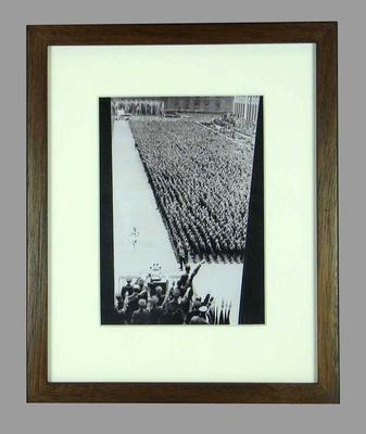Reproduction photograph, 1936 Berlin Olympic Games torch bearer
