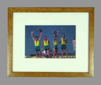 Reproduction photograph, 1992 Barcelona Olympic Games,' Oarsome Foursome'.