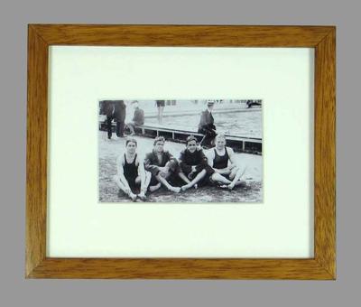 Reproduction photograph, Australian men's 4 x 200m team - 1908 London Olympic Games