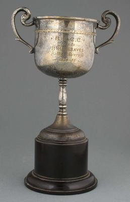 B.L.C.C. Trophy presented to B. Hargraves 1934-35