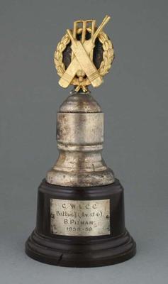 C.W.L.C.C. Trophy awarded to B. Pitman 1958-59