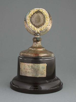 C.W.L.C.C. Bowling Trophy awarded to B. Pitman
