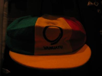 Cricket cap, Vanuatu Cricket Association - presented September 2006