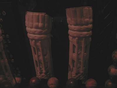 Pair of Wicket-keeping pads used by John Elliot Montfries c. 1902-03