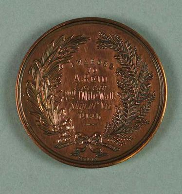 Medal - 2nd Place, 1 Mile Walk Championship of Victoria 1946; Trophies and awards; 1994.3095.31