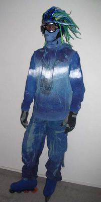 Blader costume worn by Chris Saunders, 2006 Melbourne Commonwealth Games Opening Ceremony
