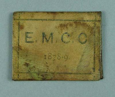 Ticket, East Melbourne Cricket Club - season 1878/79; Documents and books; 1990.2342.4