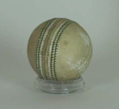 Cricket ball, used by Cricket South Africa