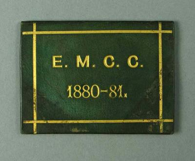 Ticket, East Melbourne Cricket Club - season 1880-81; Documents and books; 1990.2342.5
