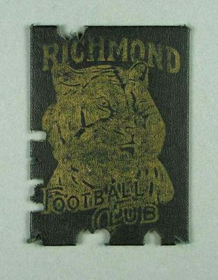 Richmond Football Club Scholar's Ticket, season 1960