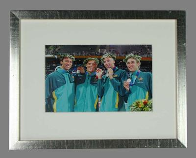 Reproduction photograph, Australian men's 4 x 200m relay team - 2004 Olympic Games